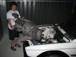Benny balancing the dummy engine