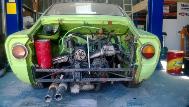 Fiat 850 spider engine swap