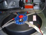 fuel cell mounted in spare wheel recess